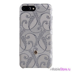 Чехол Revested Silk Collection Hard для iPhone 7 Plus/8 Plus, Silver of Florence