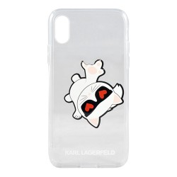 Чехол Karl Lagerfeld Choupette Fun Apple для iPhone X/XS, прозрачный