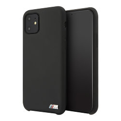 Чехол BMW M-Collection Liquid Silicone для iPhone 11, черный