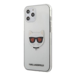 Чехол Karl Lagerfeld Choupette Head Hearts Hard для iPhone 12 | 12 Pro, прозрачный