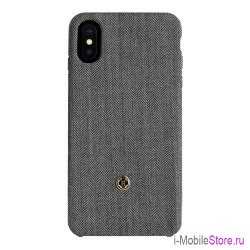 Чехол Revested Timeless Hard Herringbone для iPhone X/XS, серый