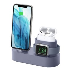 Подставка Elago 3 in 1 для Airpods Pro/iPhone/Apple Watch, Lavender