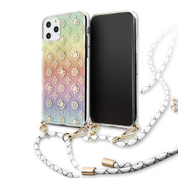 Чехол Guess 4G Cord collection Hard Iridescent для iPhone 11 Pro Max, со шнурком, multicolor