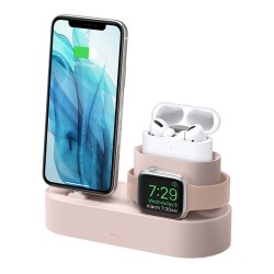 Подставка Elago 3 in 1 для Airpods Pro/iPhone/Apple Watch, Pink Sand