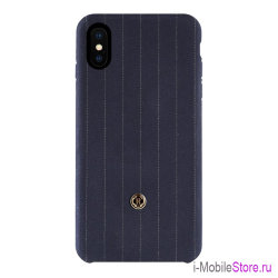 Чехол Revested Timeless Hard Pinstripe для iPhone X/XS, синий