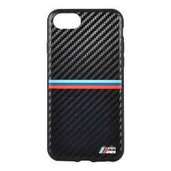 Чехол BMW M-Collection Carbon Inspiration Hard PU для iPhone 7/8/SE 2020, черный
