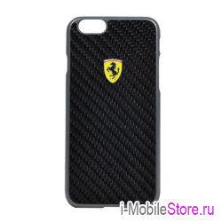 Чехол Ferrari Formula One Hard Real Carbon для iPhone 6/6s, черный