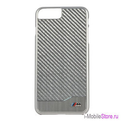 Чехол BMW M-Collection Aluminium Carbon для iPhone 7 Plus/8 Plus, серебристый