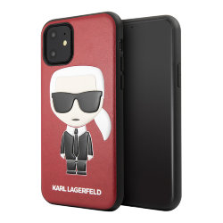 Чехол Karl Lagerfeld PU Leather Iconic Karl Hard для iPhone 11, красный