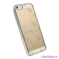 Чехол Guess 4G Transparent Hard для iPhone 5s SE, серебристый