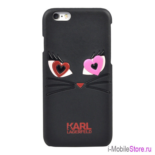 Чехол Karl Lagerfeld Choupette in love 2 Hard для iPhone 6/6s, черный