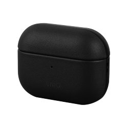 Чехол Uniq Terra Genuine Leather для AirPods Pro, черный