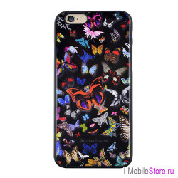 Чехол Christian Lacroix Butterfly Hard для iPhone 6/6s, черный