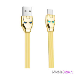 Кабель Hoco USB Type-C Steel Man (1.2 м), золотой