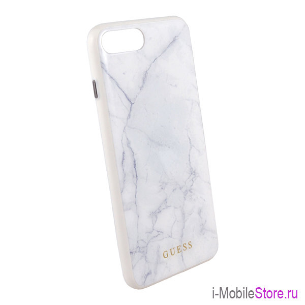 Чехол Guess Marble Collection Hard для iPhone 7 Plus/8 Plus, белый