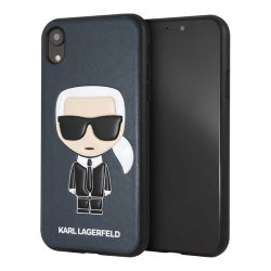 Чехол Karl Lagerfeld Iconic Karl Hard для iPhone XR, синий