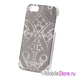 Чехол Christian Lacroix Paseo Transparent Hard для iPhone 5s/SE, серебристый