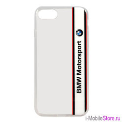 Чехол BMW Motorsport Transparent Hard для iPhone 7/8/SE 2020, белый
