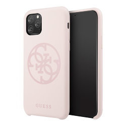 Чехол Guess Silicone collection 4G logo для iPhone 11 Pro Max, розовый