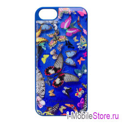 Чехол Christian Lacroix Butterfly Hard для iPhone 5s/SE, синий