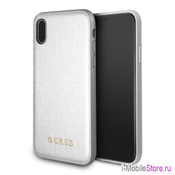Чехол Guess Iridescent Hard для iPhone X/XS, серебристый