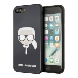 Чехол Karl Lagerfeld Double layer Karl's Head Hard Glitter для iPhone 7 Plus/8 Plus, черный