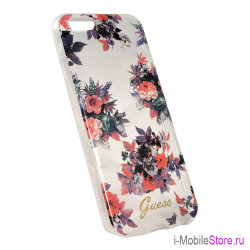 Чехол Guess BLOSSOM Hard для iPhone 6/6s, Transparent Flower