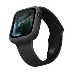 Чехол Uniq LINO для Apple Watch 4/5/6/SE 44 мм, черный