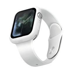 Чехол Uniq LINO для Apple Watch 4/5/6/SE 44 мм, белый