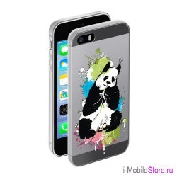 Чехол Deppa Gel Art Animal для iPhone 5s/SE, Панда