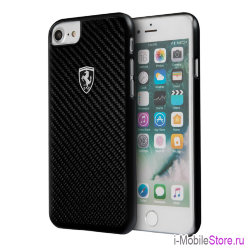 Чехол Ferrari Heritage Real Carbon Hard для iPhone 7/8/SE 2020, черный