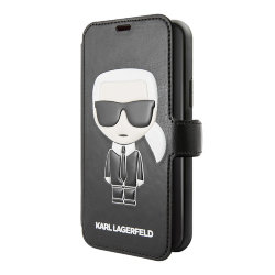 Чехол Karl Lagerfeld PU Leather Iconic Karl Booktype Stand для iPhone 11 Pro, черный