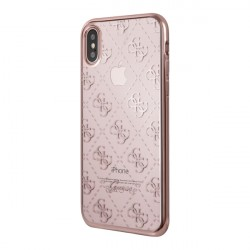 Чехол Guess 4G Transparent Hard для iPhone X/XS, розовый
