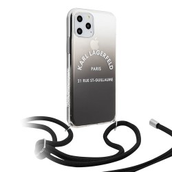 Чехол Karl Lagerfeld Cord collection Hard Gradient для iPhone 11 Pro Max, черный