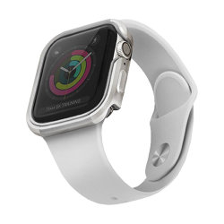 Чехол Uniq Valencia aluminium для Apple Watch 4/5/6/SE 44 мм, серебристый