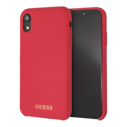 Чехол Guess Silicone для iPhone XR, красный