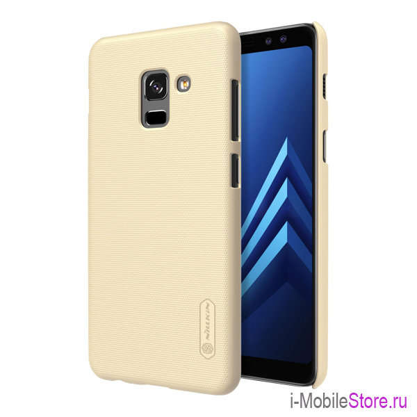 Чехол Nillkin Frosted Shield для Galaxy A8 Plus (2018), золотой