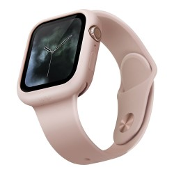 Чехол Uniq LINO для Apple Watch 4/5/6/SE 44 мм, розовый
