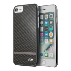 Чехол BMW M-Collection Matte stripe Hard Carbon Aluminium Gunmetal для iPhone 7/8/SE 2020