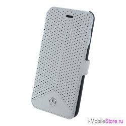 Кожаный чехол Mercedes Pure Line Booktype perforated для iPhone 6/6s, серый