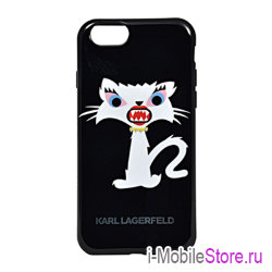 Чехол Karl Lagerfeld  Monster Choupette Hard для iPhone 6 Plus/6s Plus, черный