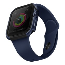 Чехол Uniq Valencia aluminium для Apple Watch 4/5/6/SE 44 мм, синий