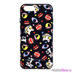 Чехол Karl Lagerfeld Monster Choupette Hard Print для iPhone 6 Plus/6s Plus, синий