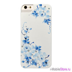 Чехол iCover Sweet Rose чехол для iPhone 5s SE, White/Blue