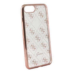 Чехол Guess 4G Transparent Hard для iPhone 7 Plus/8 Plus, розовый