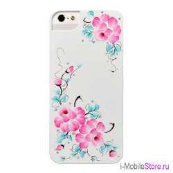 Чехол iCover Sweet Rose чехол для iPhone 5s SE, White/Pink