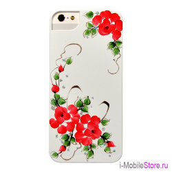 Чехол iCover Sweet Rose чехол для iPhone 5s SE, White/Red