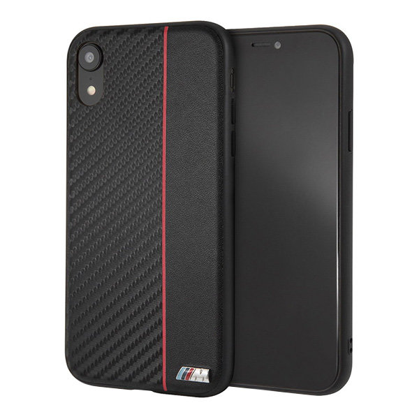 Чехол BMW M Collection Carbon Inspiration Hard для iPhone XR, Red/Black