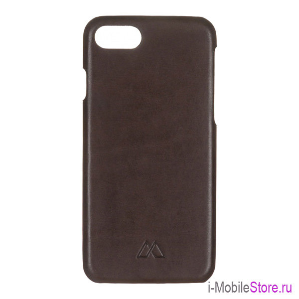 Кожаный чехол Moodz Soft Leather Hard для iPhone 7/8/SE 2020, Chocolate