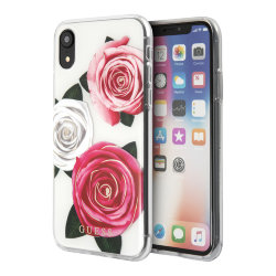 Чехол Guess Flower desire Transparent Hard для iPhone XR, Tricolor Roses